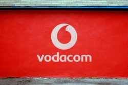 Vodacom logo on wall