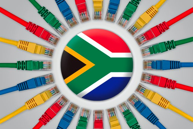 The number of Internet users in South Africa