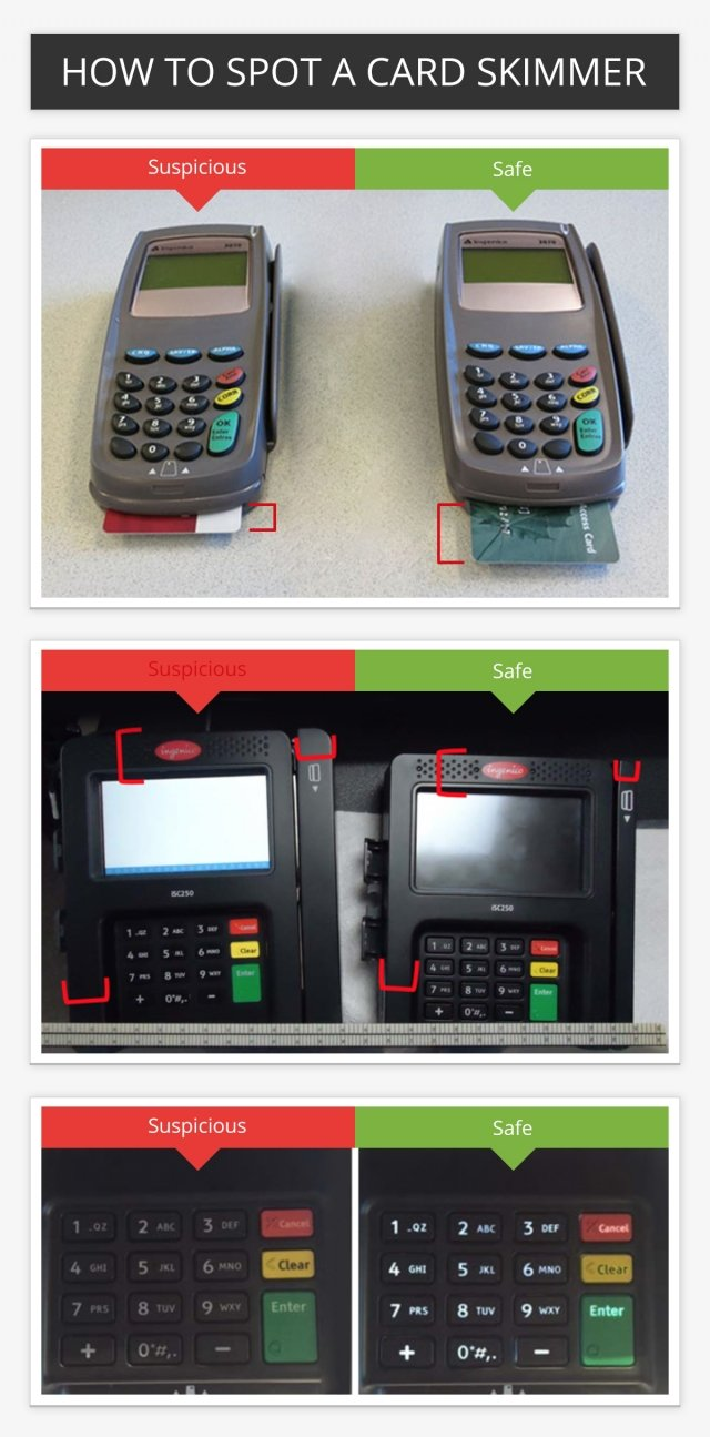 How to spot a card skimmer
