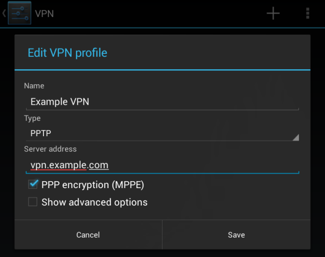 Use a Microsoft Intune custom profile to create a per-app VPN profile for Android devices