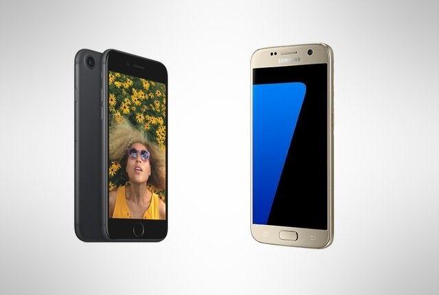 iPhone 7 and Samsung Galaxy S7