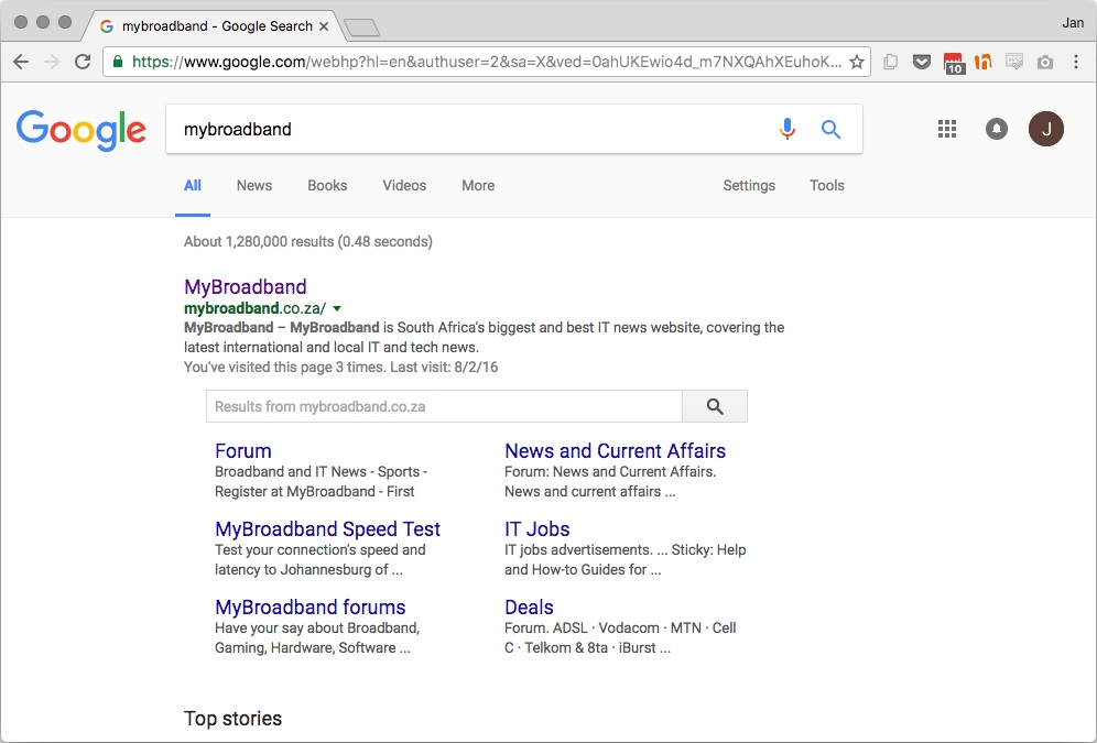 Google testing new Material Design on search page