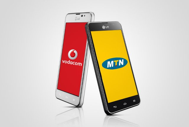 Which parts of South Africa MTN and Vodacom dominate