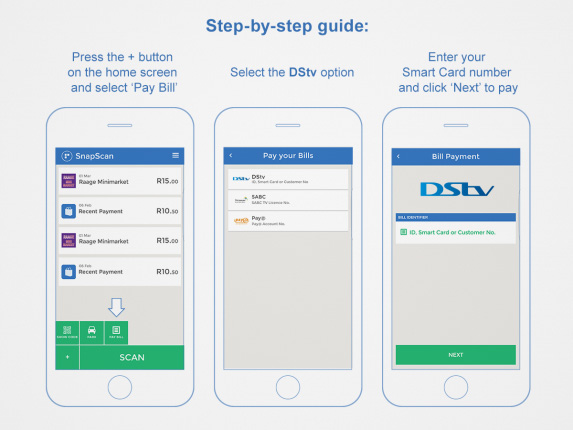 Pay your DStv bill with SnapScan