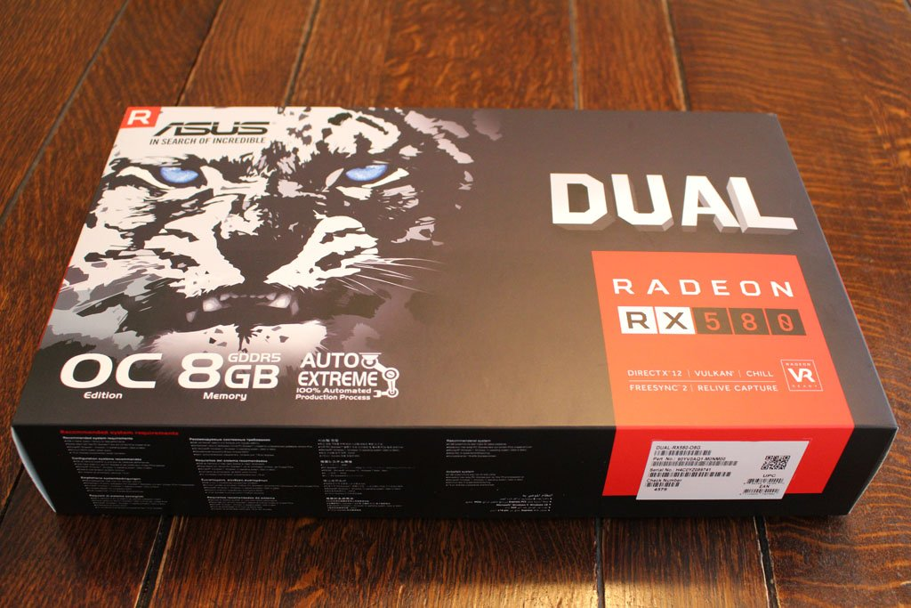 The Asus Radeon RX 580 Dual OC is a beast of a graphics card