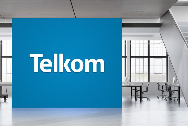 Telkom office mockup logo