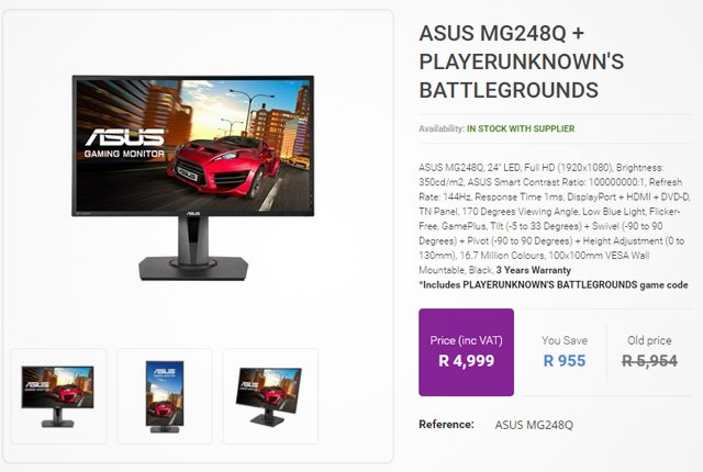 Asus MG248Q from Rebeltech