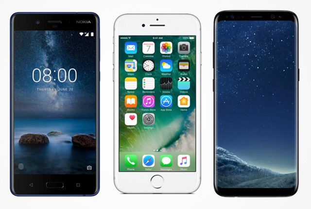 Nokia 8 vs Galaxy S8 vs iPhone 7 – Mega smartphone showdown