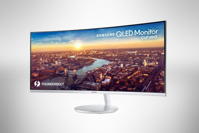 Samsung to reveal Thunderbolt 3 curved QLED monitor