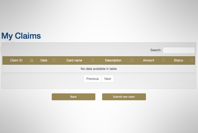 Gautrain website empty Claim Management