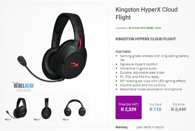 Kingston HyperX Cloud Flight from Rebel Tech