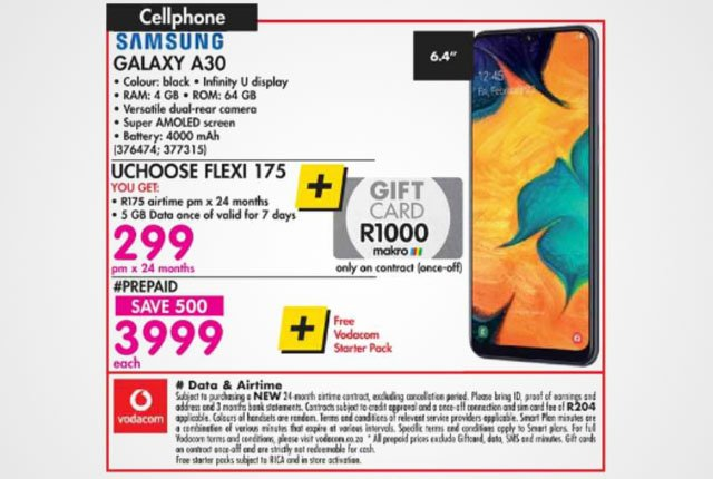 Samsung Galaxy A30 from Makro