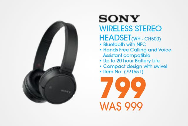 Sony Wireless headset from Dion Wired