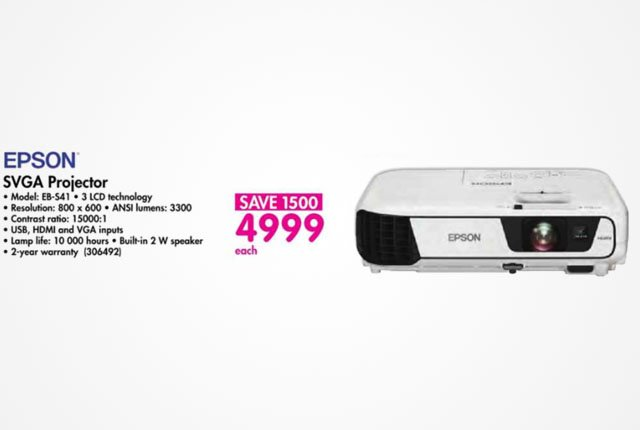 Epson SVGA Projector from Makro