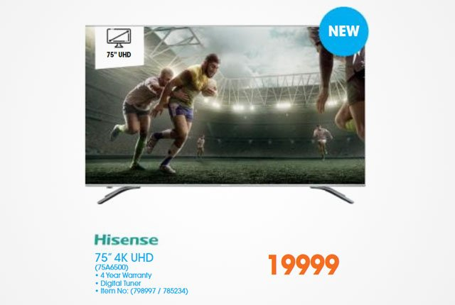 Hisense 75-inch 4K UHD TV from Dion Wired
