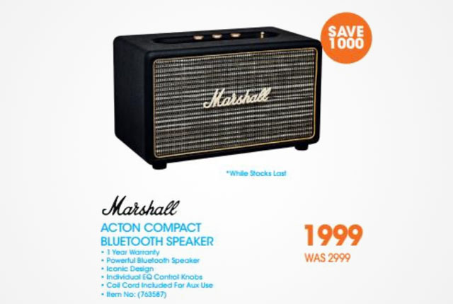 Marshall Blueooth Speaker from Dion Wired