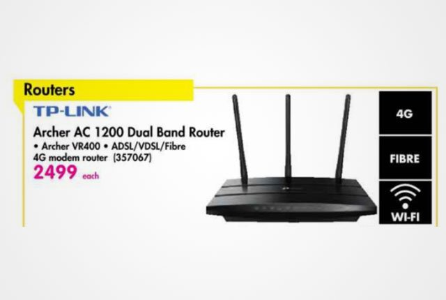 TP-Link AC1200 router from Makro