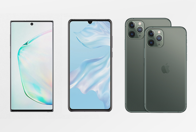 iPhone 11 Pro vs P30 vs Note 10