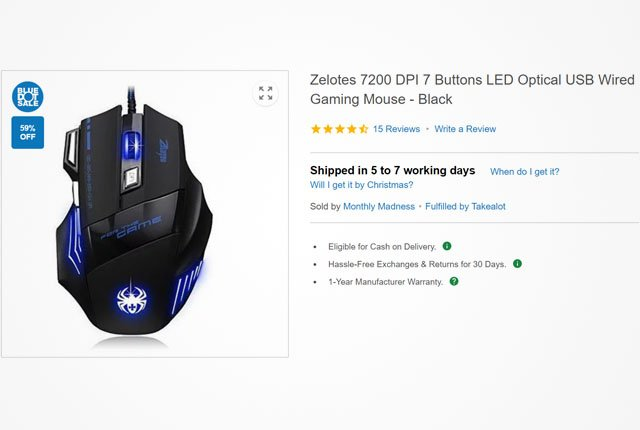 Zelotes USB gaming mouse