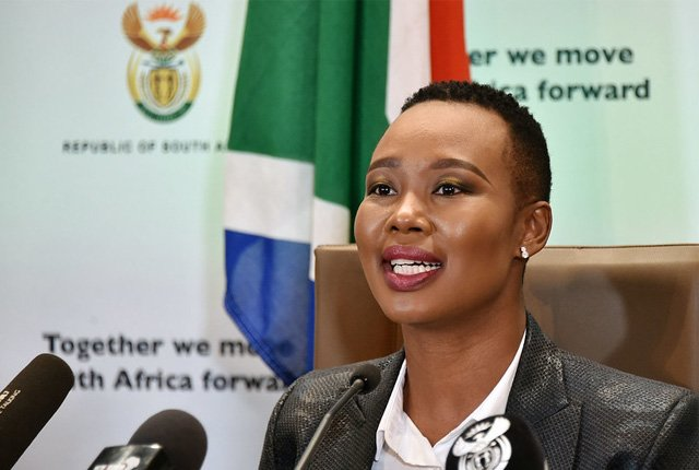 Communications Minister Stella Ndabeni-Abrahams denies corruption allegations