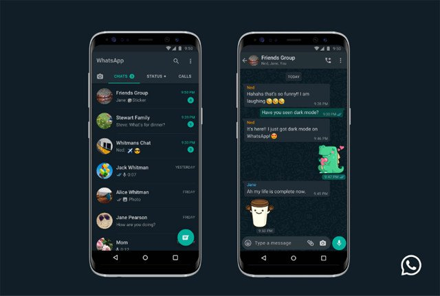 WhatsApp dark mode is here