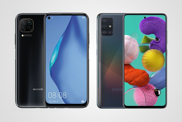 Huawei P40 Lite vs Samsung Galaxy A51 – Pricing and specifications