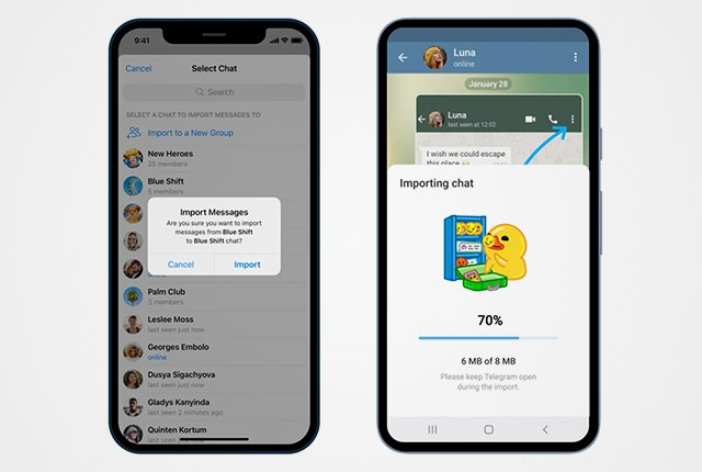 Telegram now lets you import your WhatsApp chats