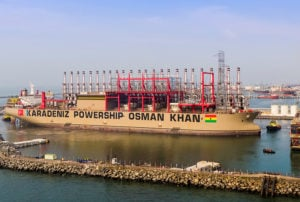 Powership at port