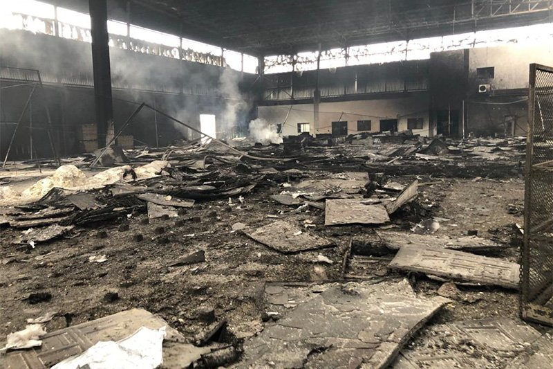 South African LG factory looted and burned down