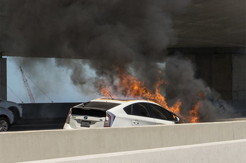 Battery fires and brake failures